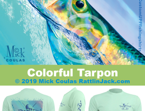 Custom UPF Fishing Shirts Colorful Tarpon Fish Gallery