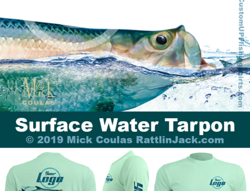 Custom UPF Fishing Shirts surface water tarpon Fish Gallery